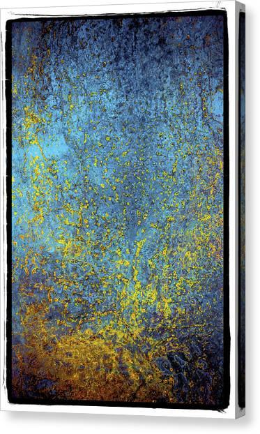 Deep Blue Steel Abstract Nine Canvas Print