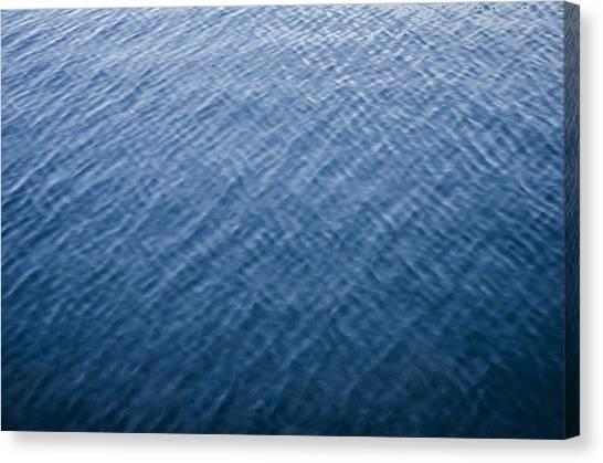 Deep Blue Water Canvas Print