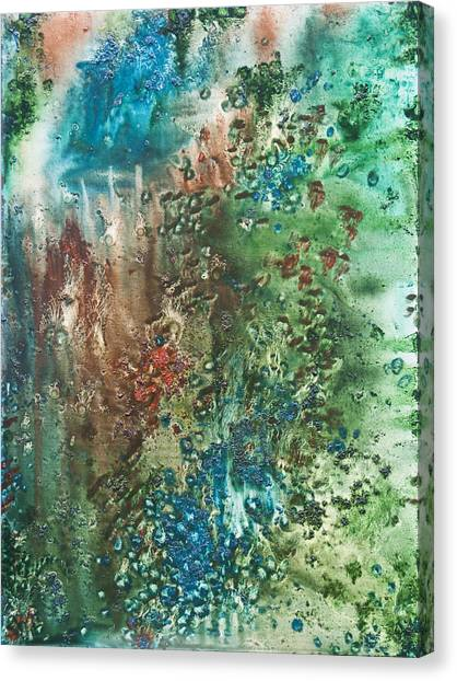 Lyrical Abstraction Canvas Print - Deep Down - To The Soul Of The Sea by Sora Neva