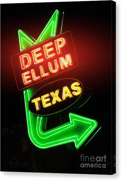 Deep Ellum Red Glow Canvas Print