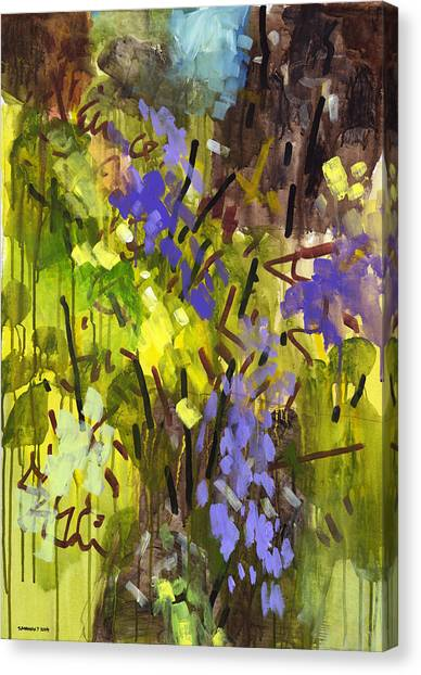 Abstract Expressionism Canvas Print - Deep In Summer by Douglas Simonson