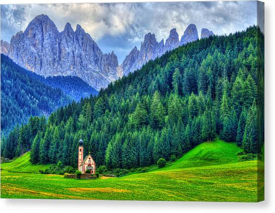 Dolomites Canvas Print - Deep In The Mountains by Midori Chan