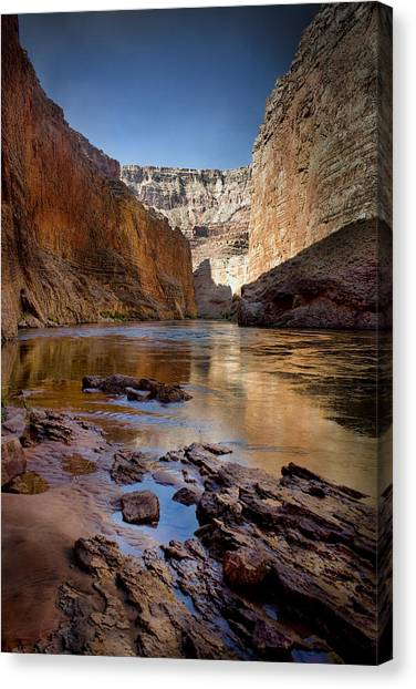 Deep Inside The Grand Canyon Canvas Print