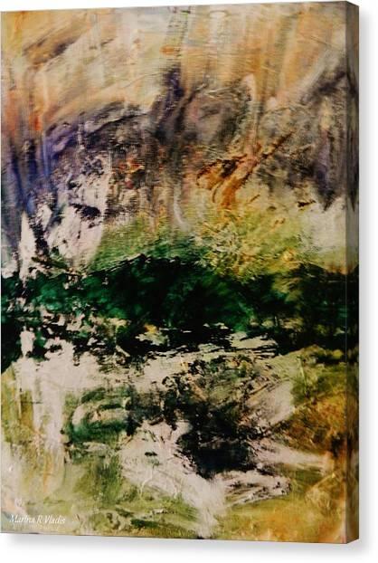 Deep Longing Canvas Print by Marina R Vladis