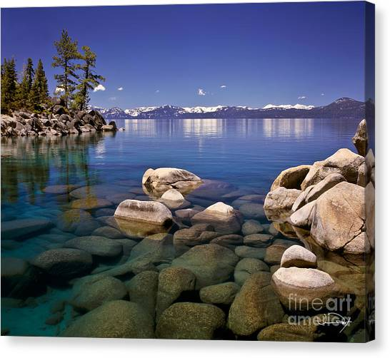 Lake Canvas Print - Deep Looks by Vance Fox