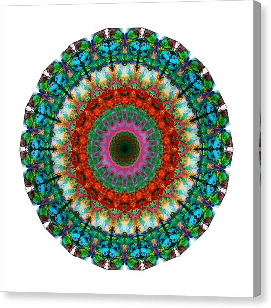 Om Canvas Print - Deep Love - Mandala Art By Sharon Cummings by Sharon Cummings