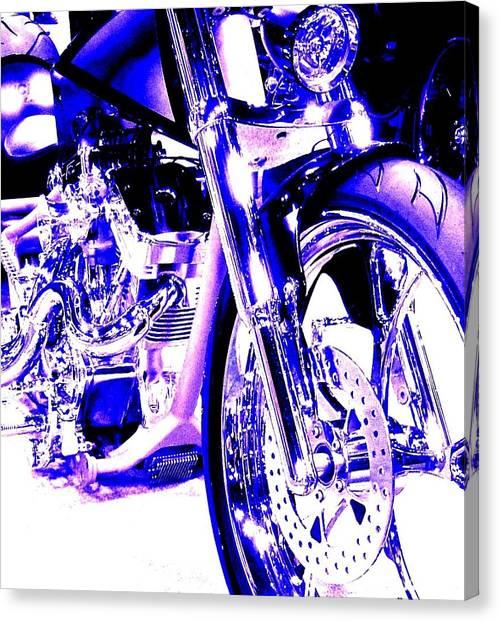 Deep Purple Art On Two Wheels Canvas Print