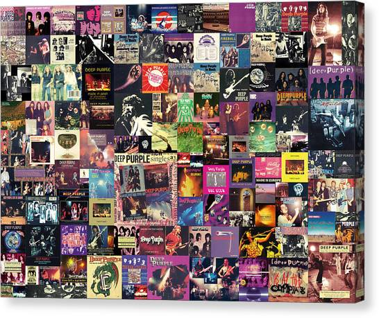 Rock Music Canvas Print - Deep Purple Collage by Zapista Zapista