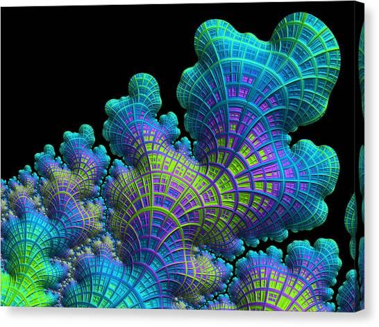 Canvas Print featuring the digital art Deep Sea Coral by Susan Maxwell Schmidt