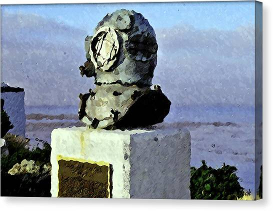 Deep Sea Divers Memorial Canvas Print by Christopher Bage
