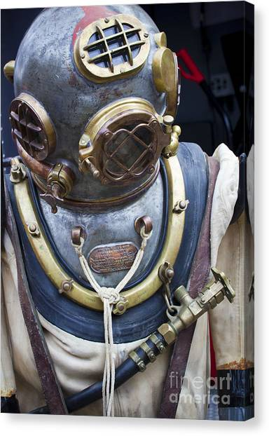 Deep Sea Diving Gear Canvas Print