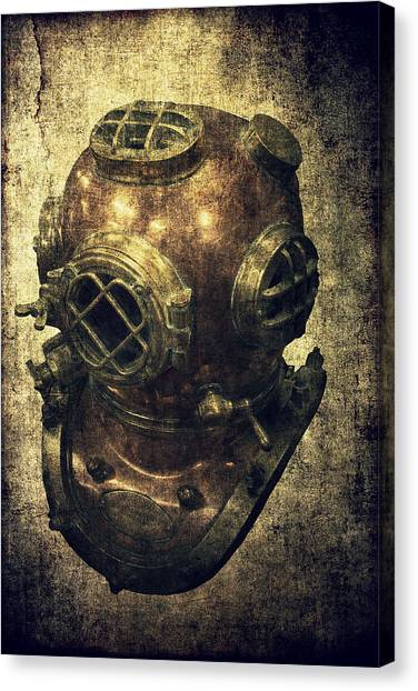Deep Sea Diving Helmet Canvas Print