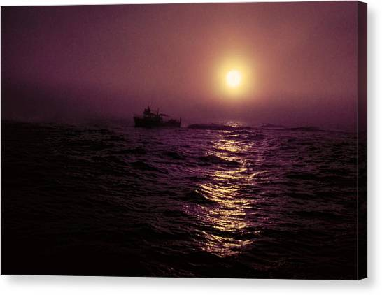 Deep Sea Fishing Off West Port Wa II Canvas Print