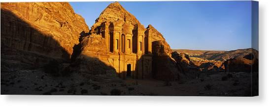 Jordan Canvas Print - Deep Shadows At The Monastery, Al Deir by Panoramic Images
