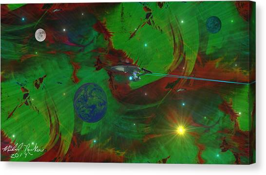 Starship Enterprise Canvas Print - Deep Space / Star Trek by Michael Rucker