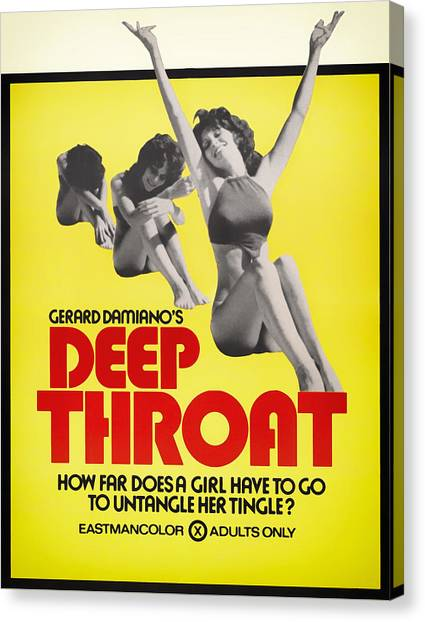 Placard Canvas Print - Deep Throat Movie Poster 1972 by Mountain Dreams