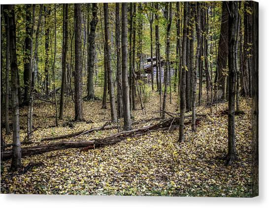 Log Cabin Canvas Print - Deep Woods Cabin by Tom Mc Nemar
