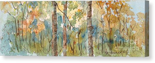 Saskatchewan Canvas Print - Deep Woods Waskesiu Horizontal by Pat Katz