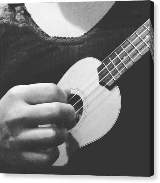 Ukuleles Canvas Print - Deepest Conversations - Yuna #ukulele by Aklili Zack