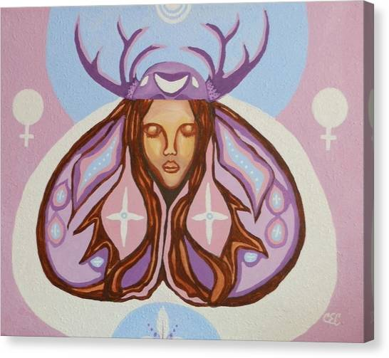 Deer Woman Canvas Print