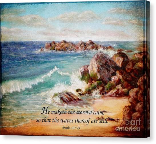 Deerfield Wave Psalm 107 Canvas Print