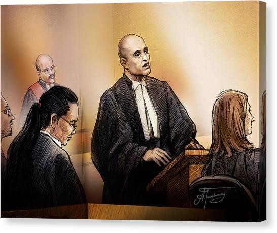 Defence Lawyer Edward Sapiano At Jennifer Pan Trial Canvas Print