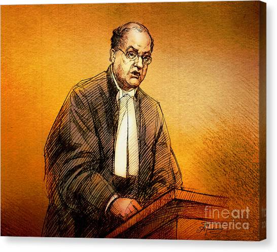 Defence Lawyer Robert Richardson At Richard Kachkar Trial Canvas Print