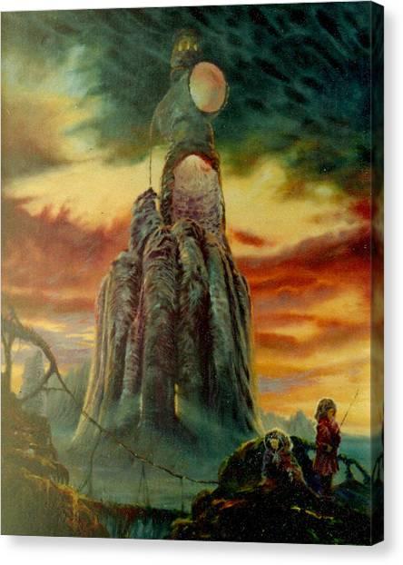 Defenders Of Rocky Desert Canvas Print