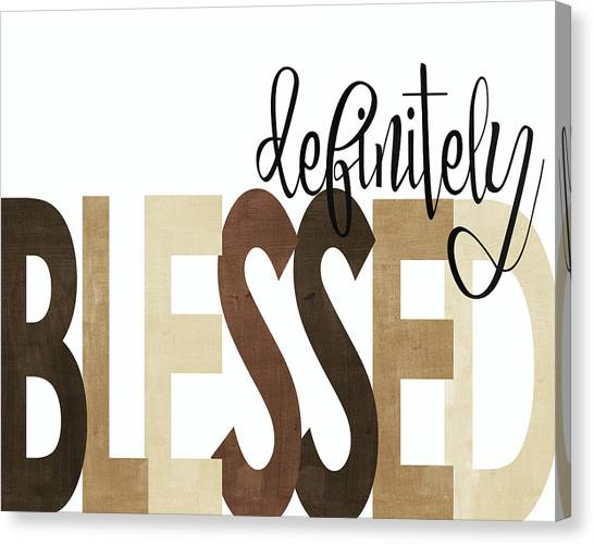Thanksgiving Canvas Print - Definitely Blessed Neutral by Alli Rogosich