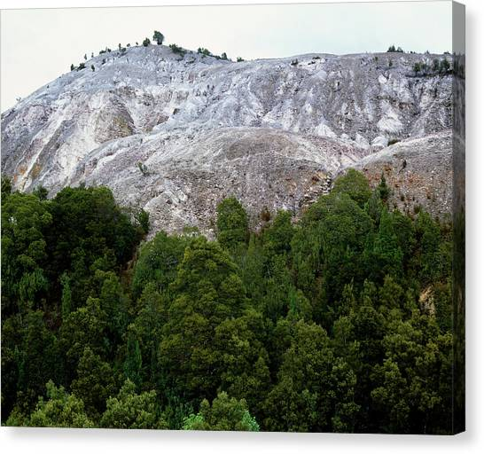 Deforestation Canvas Print - Deforestation Of Rainforest From Mining by Simon Fraser/science Photo Library