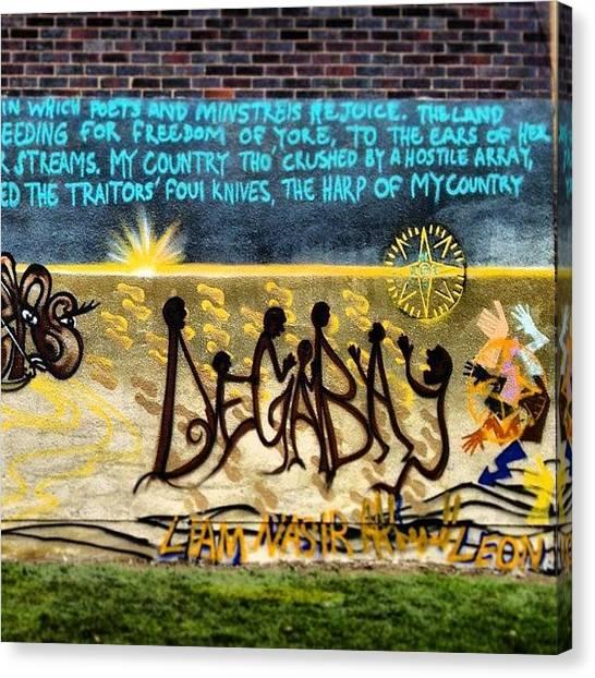 Hops Canvas Print - Degabay. Wall Graffiti 100% Complete by Elbashir Idris