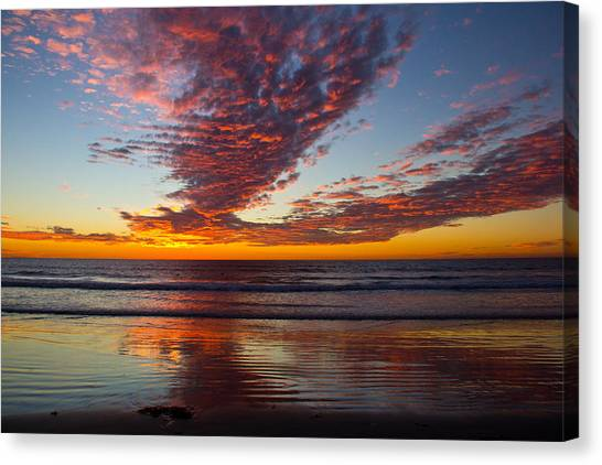 Del Mar Sunset 14 Canvas Print