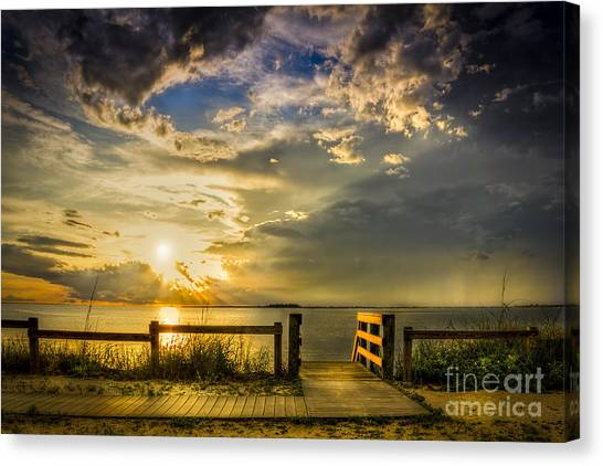 Beach Sunsets Canvas Print - Del Sol by Marvin Spates