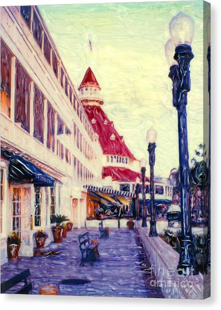 Del Veranda - V Canvas Print