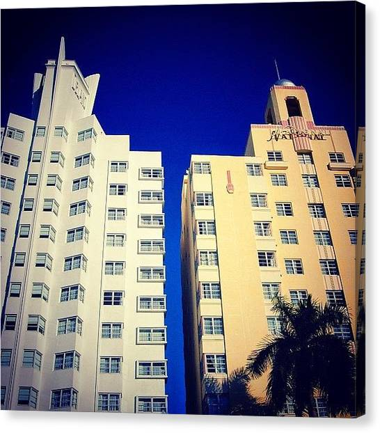 Iger Canvas Print - Delano And National Hotel's - Miami ( by Joel Lopez