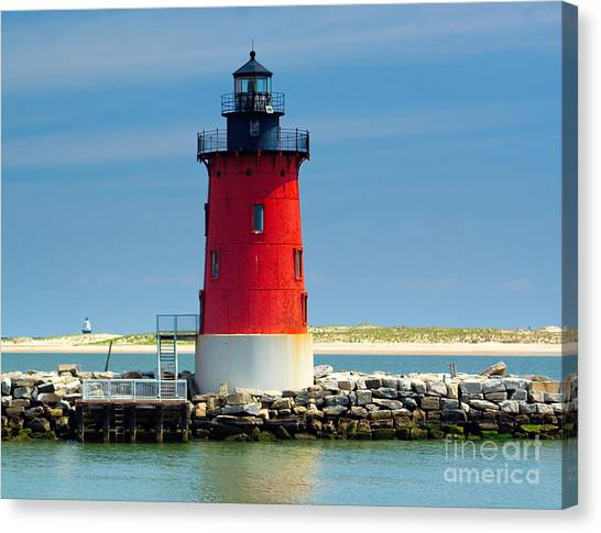 Delaware Breakwater Lighthouse Canvas Print