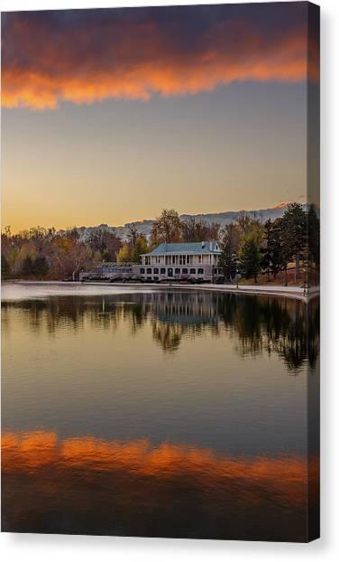 Delaware Park Marcy Casino Autumn Sunrise Canvas Print