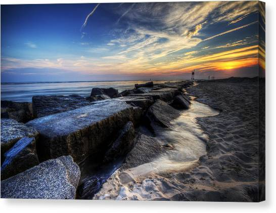 Delaware Sunrise At Indian River Inlet Canvas Print