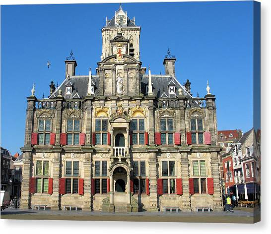 Delft City Hall Canvas Print