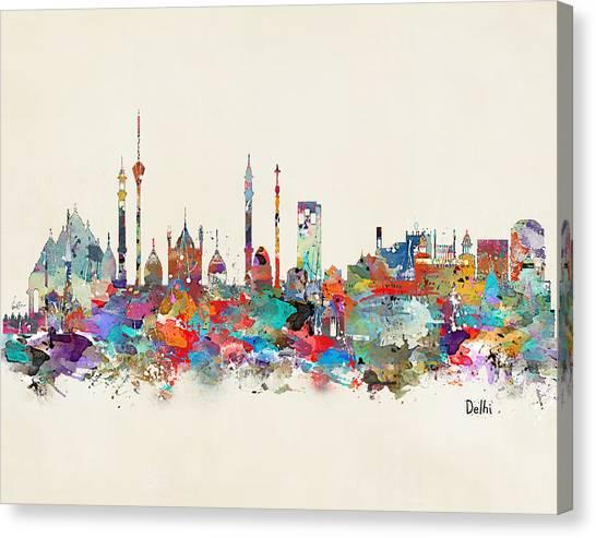 Fine Art India Canvas Print - Delhi India Skyline by Bleu Bri