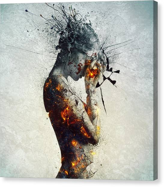 Fire Canvas Print - Deliberation by Mario Sanchez Nevado