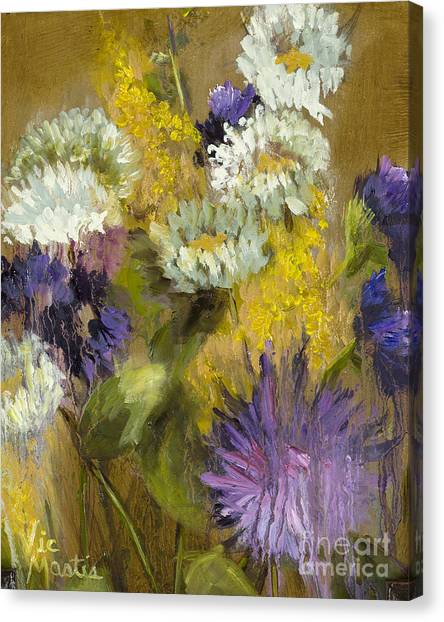 Delicate Aroma I -unframed-with Gold Leaf By Vic Mastis Canvas Print