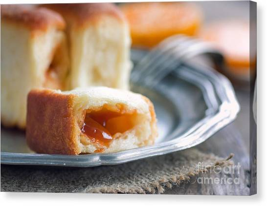 Stuffing Canvas Print - Delicious Jam Rolls by Mythja  Photography