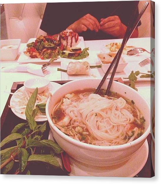 Vietnamese Canvas Print - Delicious Phó Dinner With @_wilkins by Kaitlyn Geez