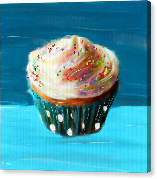 Cupcake Canvas Print - Delightful Sprinkles by Lourry Legarde