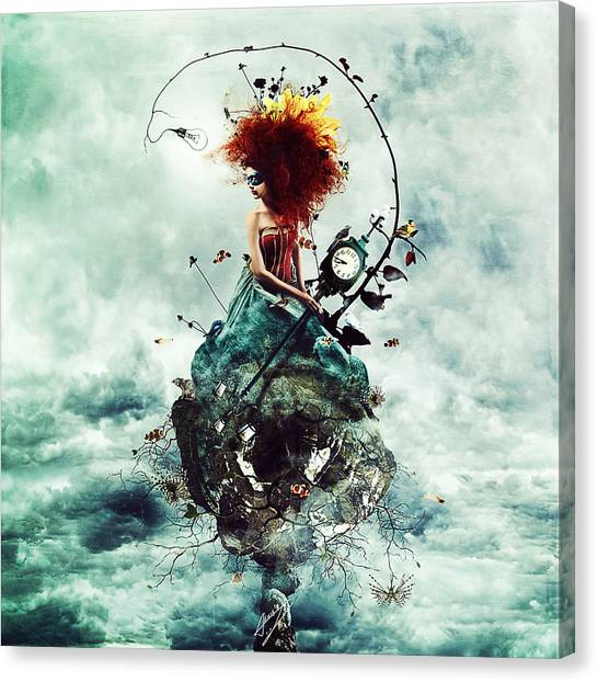 Crazy Canvas Print - Delirium by Mario Sanchez Nevado