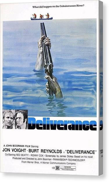 Burt Reynolds Canvas Print - Deliverance by Movie Poster Prints