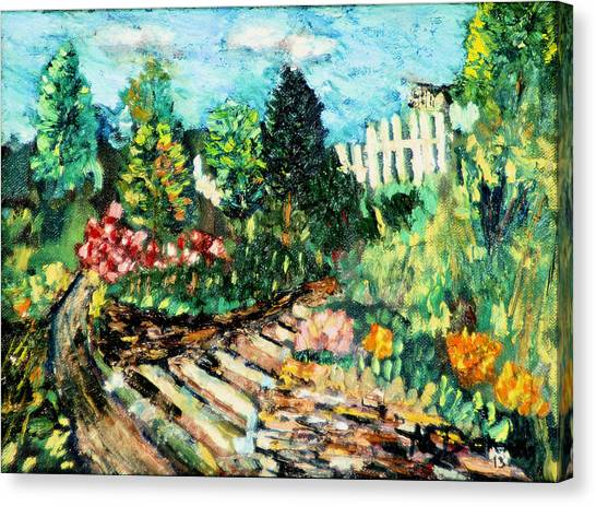 Delphi Garden Canvas Print