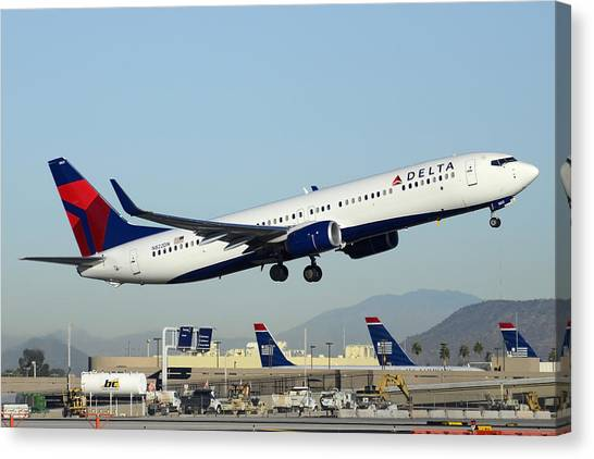 Delta Boeing 737-932 N822dn Phoenix Sky Harbor December 24 2014  Canvas Print