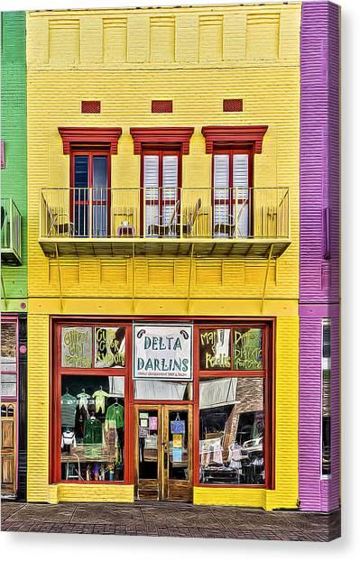 Smokehouses Canvas Print - Delta Darlins by Maria Coulson